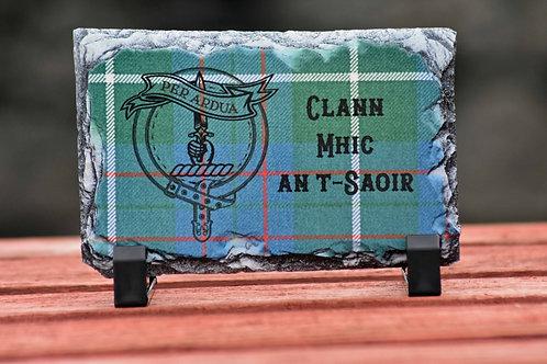 MacIntyre Tartan & Clan Crest small slate