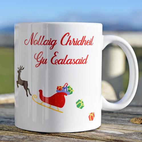 Personalised Scottish Gaelic Christmas Sleigh Mug