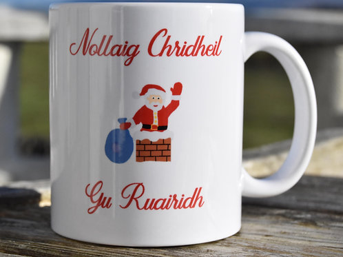 Personalised Scottish Gaelic Santa Mug