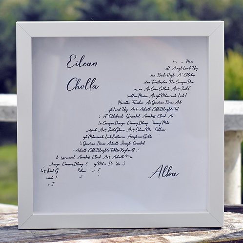 Isle of Coll Gaelic Place Names Wall Art