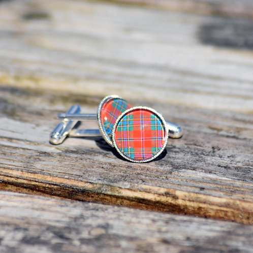 Silver Plated Tartan Cufflinks - different tartans available