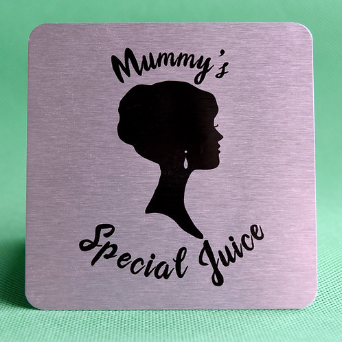 "Personalised Brushed Silver Aluminium ""Mum"" Coaster"