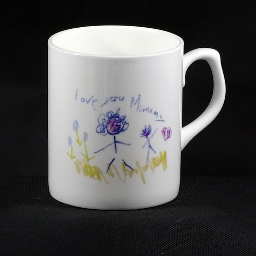 Personalised Child's Drawing Bone China Mug