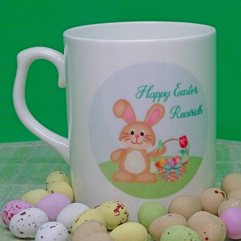 Personalised Bone China Easter Bunny Mug