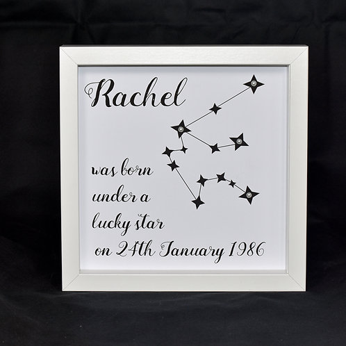 Personalised Star Sign Print - born under a lucky star