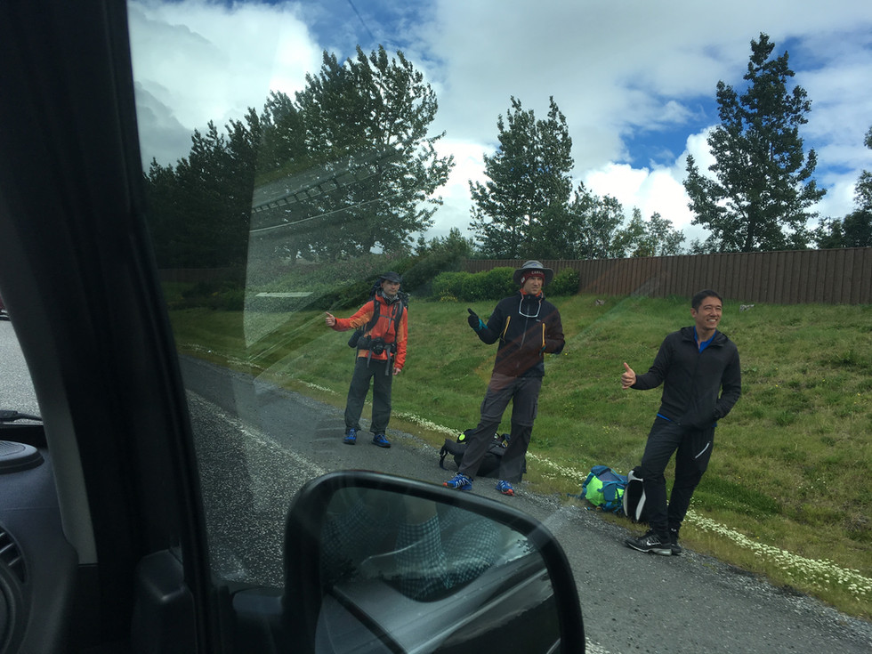 Picking Up A Hitchhiker in Iceland