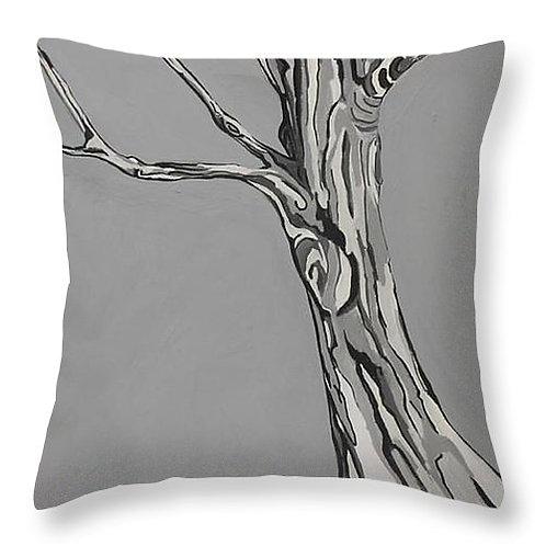 Tree Pillow -Fog Grey