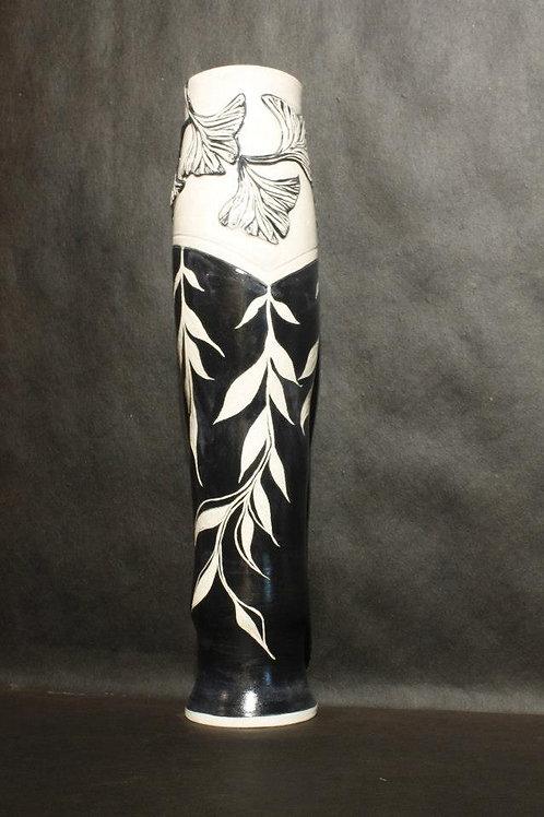 Gingko and leaf cascade vase