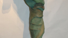Crete Shay 7 foot Seahorse- Serefina Building process for cement sculpture