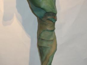 Crete Shay 7 foot Seahorse- Serefina Building process for cement sculpture