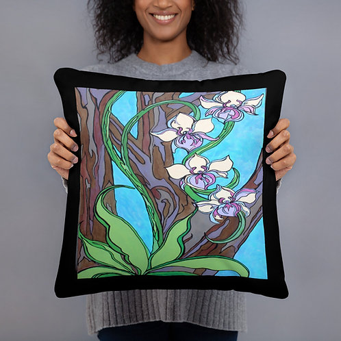 Orchids in a tree  pillow 18 x 18