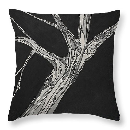 Tree Pillow - Charcoal Grey