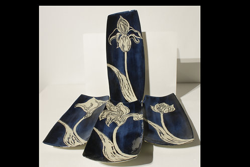 Rutile Blue, single bloom dessert set
