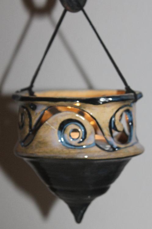 Rutile Spiral Hanging Lantern