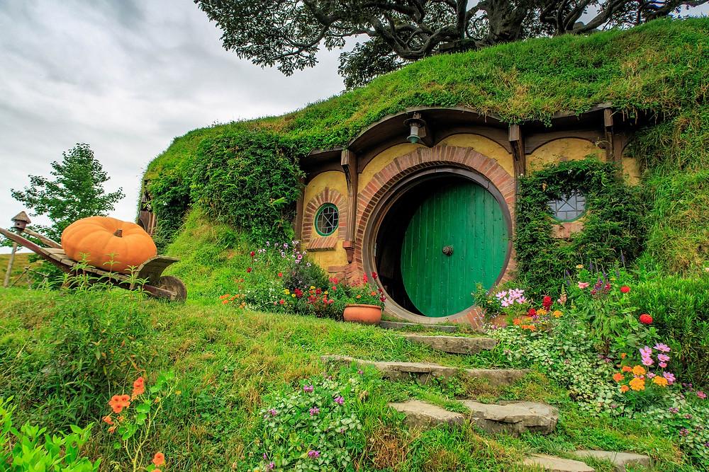 Casa-agujero de hobbit.