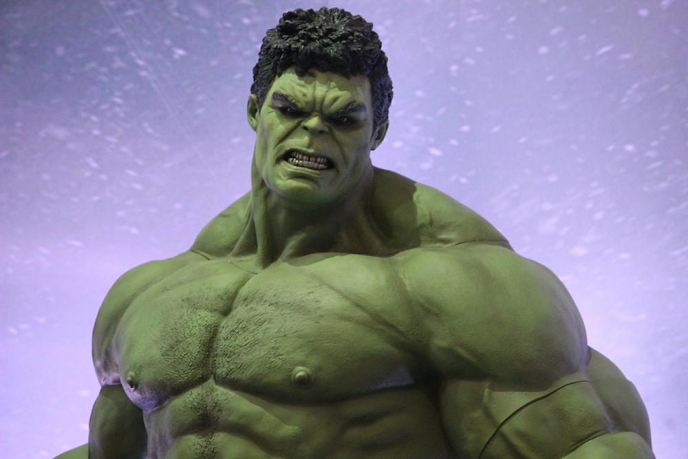 Hulk enfadado.