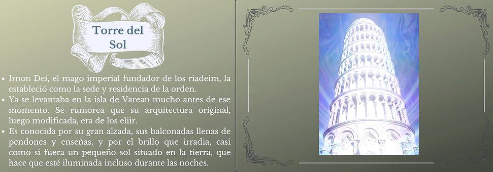 Ficha de Lugares Torre del Sol Balaeron mundo de Elaranne saga fantastica Rubén H.Ernand