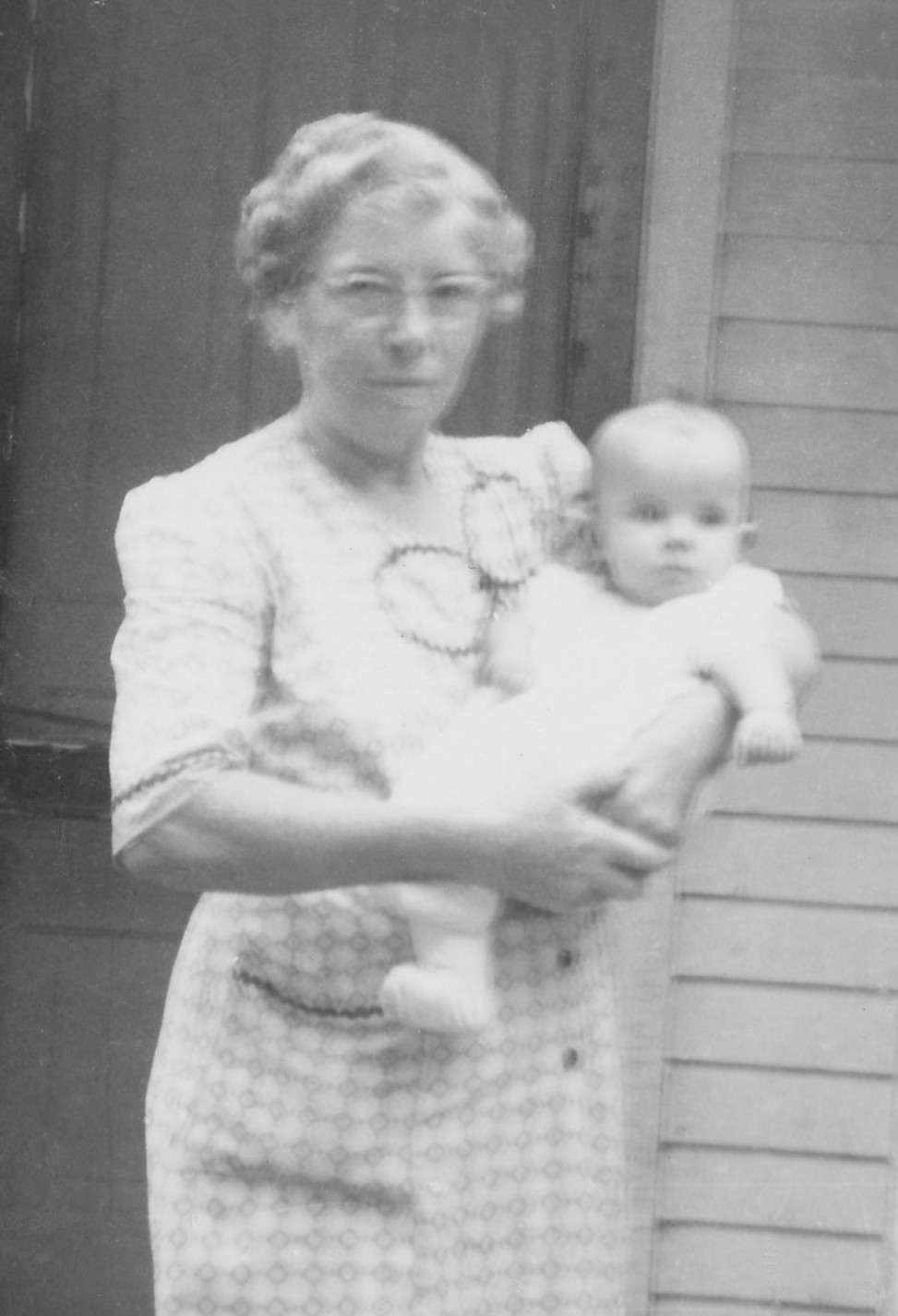 Photo of Blanche Fox Mang with her granddaughter Karen.