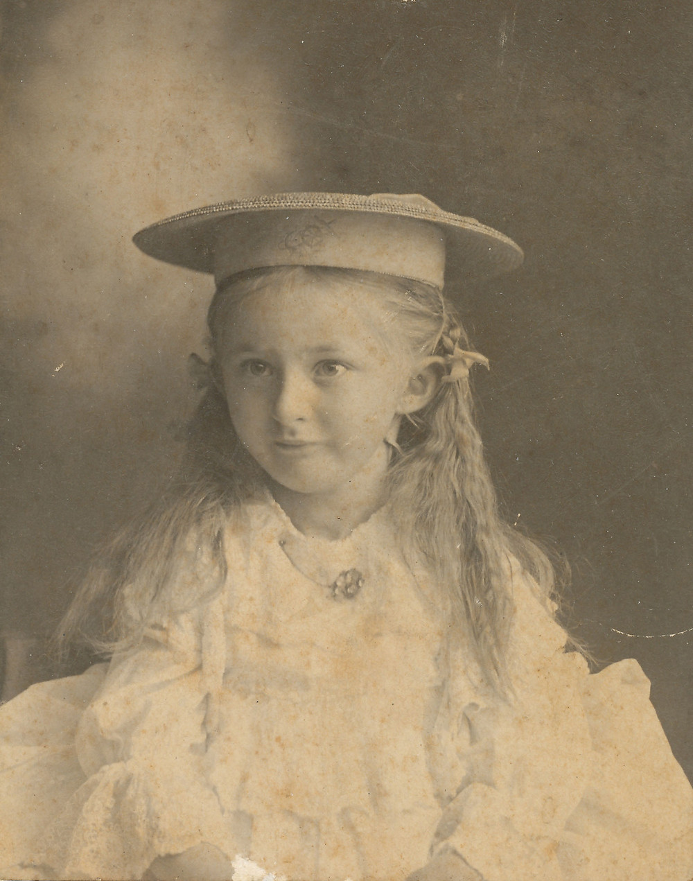 A photograph of Edith Menges take when she is believed to have been about 3-years old..