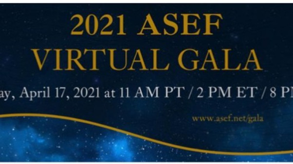 ASEF (American Slovenian Education Foundation) 2021 - VIRTUAL GALA