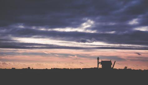 Stormy sunset - Netherlands