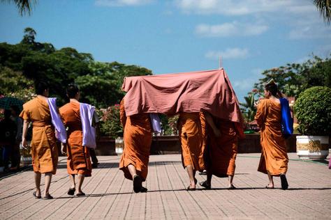Traveling Monks - Laos