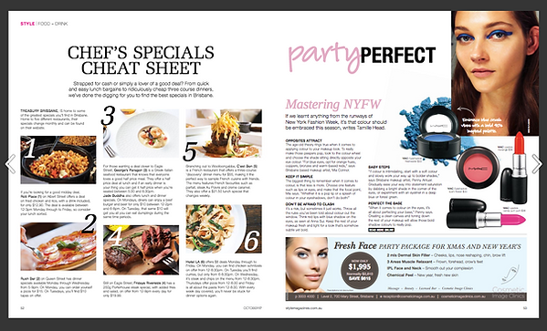 Chef's Specials Cheat Sheet & Party Perfect