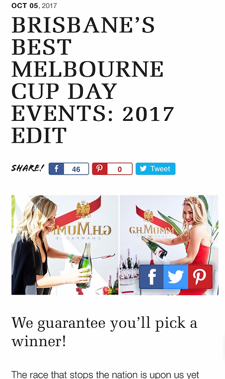 Brisbane's Best Melbourn Cup Day Events: 2017 Edit