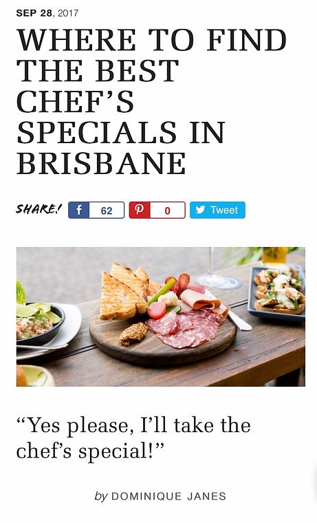 Where To Find The Best Chef's Specials In Brisbane