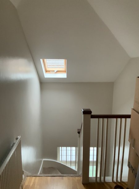 Stairs above window