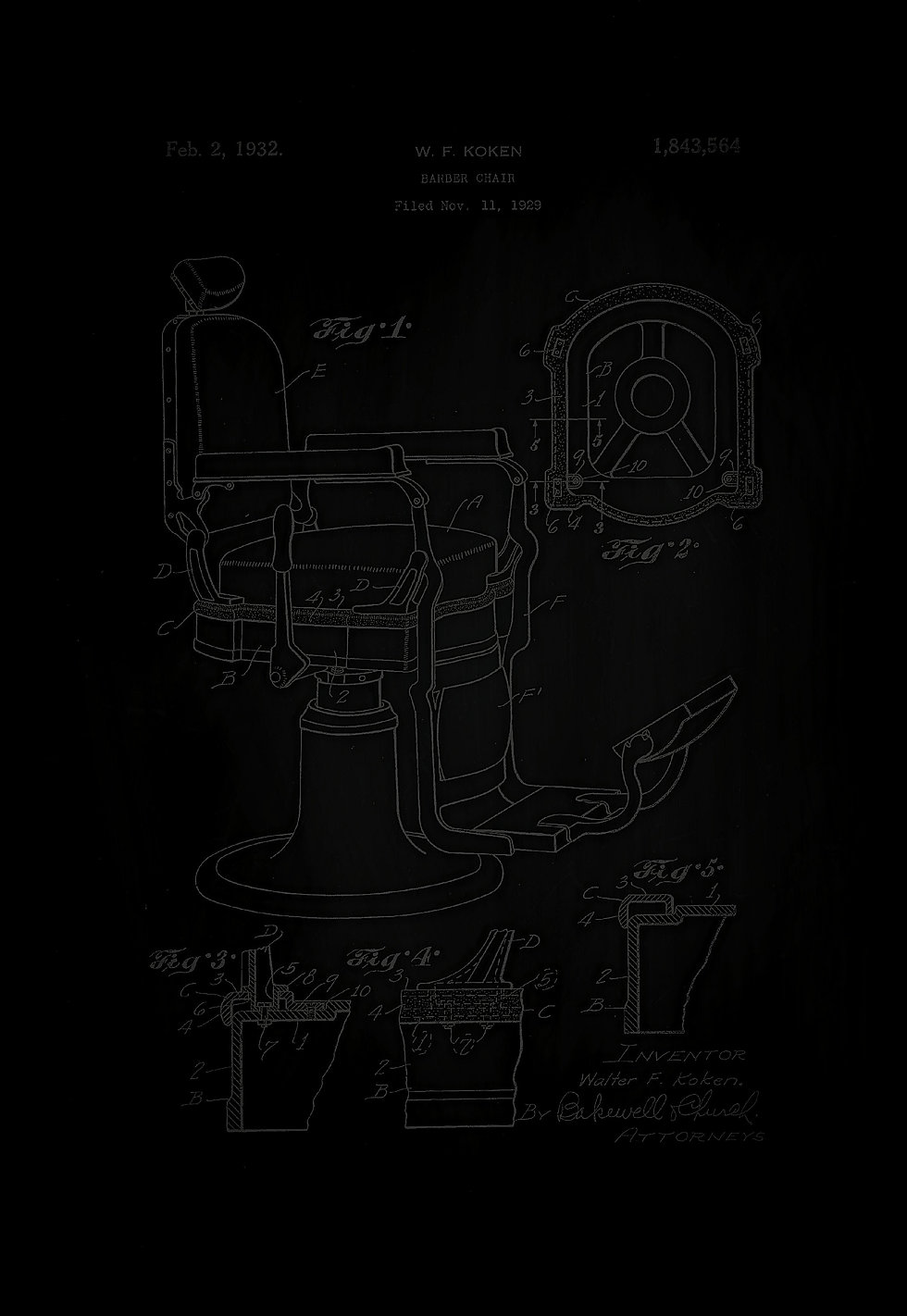 Barber Chair 1929 Patent
