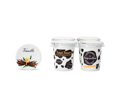 Yaourt aromatisé vanille 4x125g