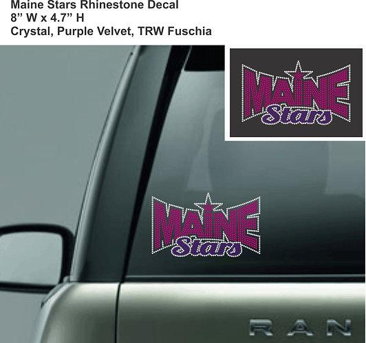 Maine Stars Rhinestone Decal