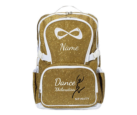 Gold Sparkle Nfinity Backpack