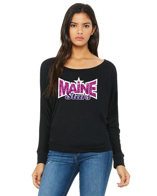Maine Stars Off-Shoulder Long Sleeve