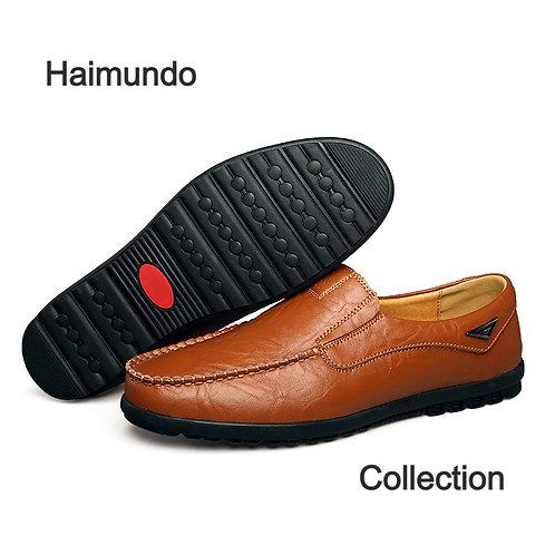 En cuir véritable hommes chaussures décontractées marque de luxe 2020