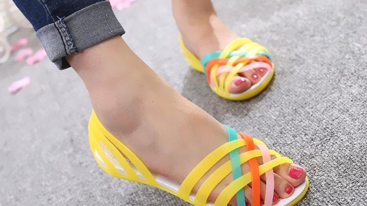 Femmes sandales 2020 été chaud nouvelle couleur bonbon femmes chaussures