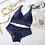 Thumbnail: Sexy culotte Bralette Lingerie Transparent femme intimes sous-vêtements dos nu