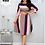 Thumbnail: Robes d'affaires fête/ Arc-en -ciel rayé imprimé dames mode