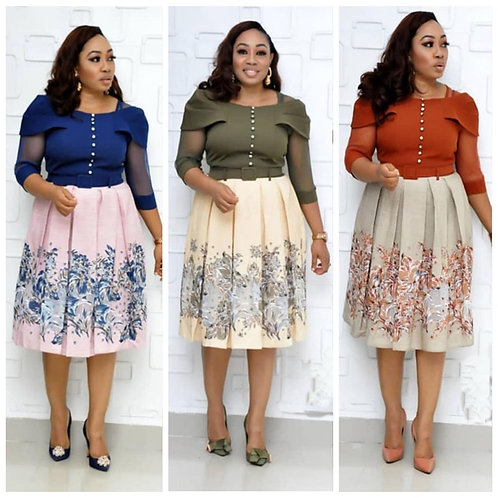 Sexy mode style africaines imprimé/grande taille robe fête bureau