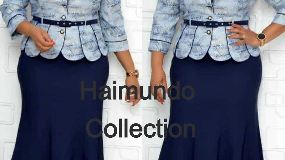 2 Pièce ensemble de noél robes africaines pour femmes longue robes maxi