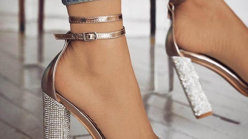talons hauts sandales chaussures dames Sexy robe de soirée de mariage