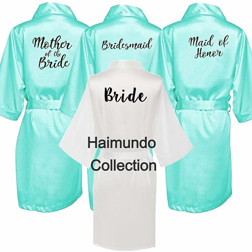 Robe verte Sexy Kimono pyjama de mariée Robe de mariée demoiselle d'honneur