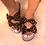 Thumbnail: 2020 Femmes sandales chaussures été sandales plates avec noeud papillon confort