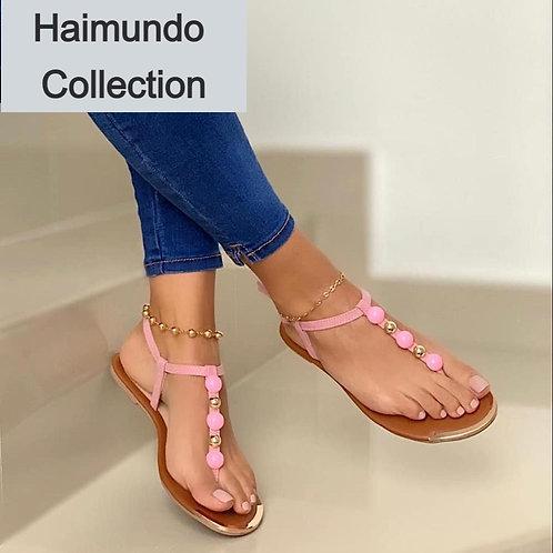 2020 Roma femmes sandales d'été mode solide boucle tongs sandales femmes plage