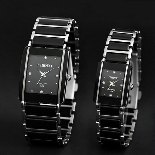 Montre à Quartz femmes hommes amoureux montres en céramique