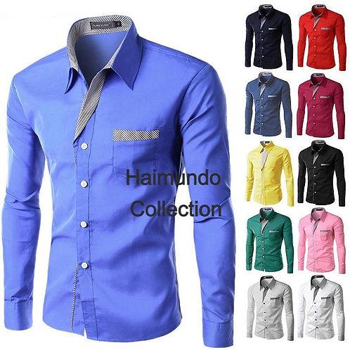 Nouvelle mode Masculin chemise à manches longues décontracté marque mâle
