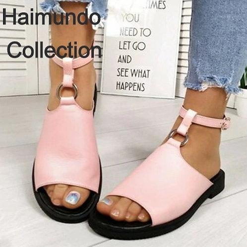 2020 sandales femmes chaussures d'été de mode décontractées boucle de cheville