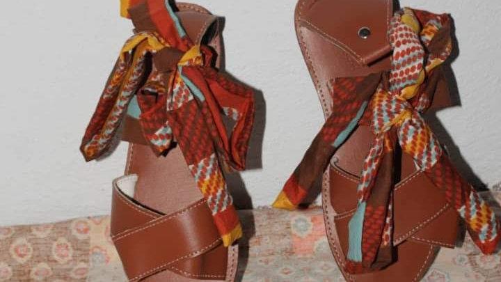 Sandale été avec ruban/ fabriqué en Haiti