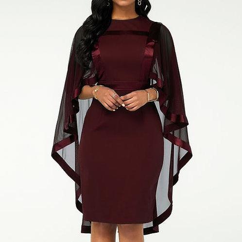 Robe cocktail fête banquet/ robe moulante automne femmes robe en maille